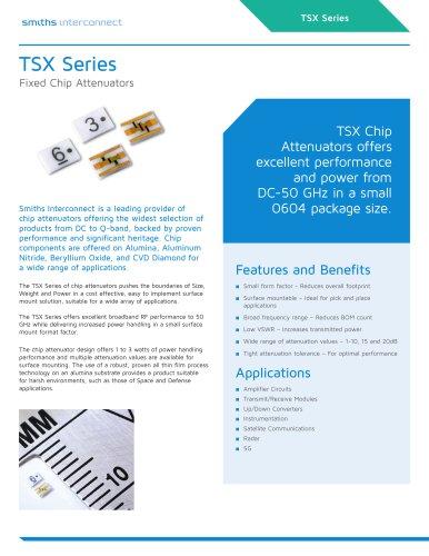 TSX Fixed Chip Attenuators
