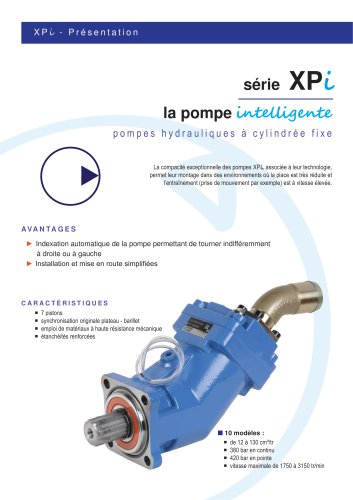 Fixed displacement pump XAi (SAE version)
