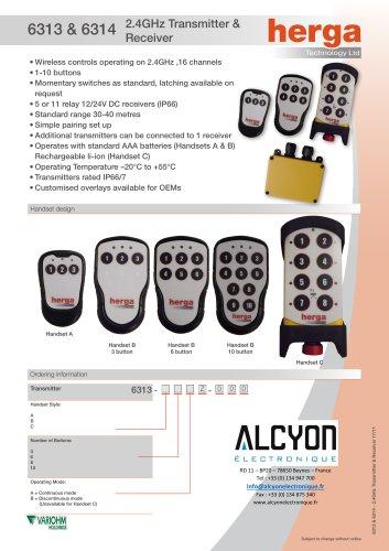 6313 & 6314 2.4GHz Transmitter & Receiver