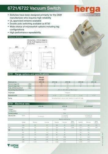 6721/6722 Vacuum Switch