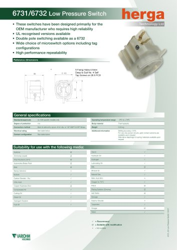 6731/6732 Low Pressure Switch