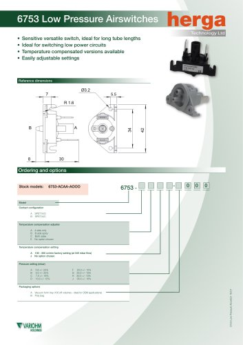 6753 Low Pressure Airswitches