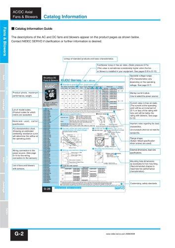 NIDEC SERVO Ventilateurs&Turbines 2017 10 (ALCYON Electronique 01 34 94 77 00)