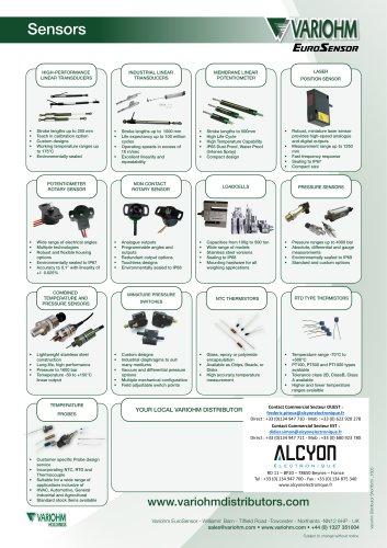 Variohm Sensor DistributorShortform_B_1605(Alcyon Electronique 01 34 94 77 00)