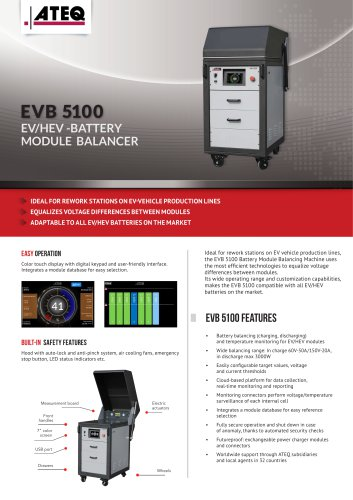 EVB5100 - Industrial EV/HEV Battery Module Balancer
