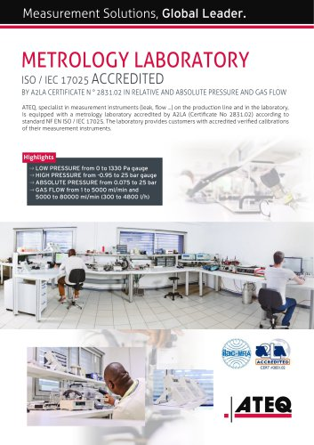 Metrology laboratory accredited (ISO/CEI 17025)