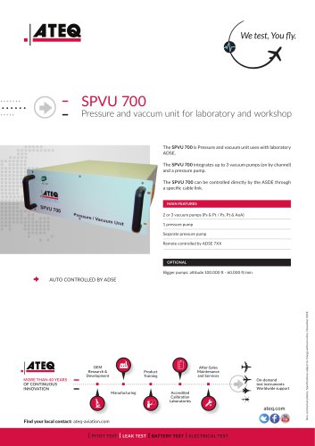 Pitot static tester - SPVU 700