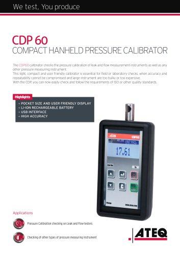 Pressure calibrator CDP 60