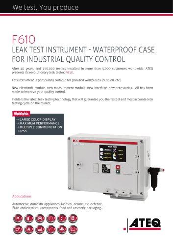 Weatherproof leak tester   F610