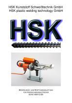 HSK plastic welding technology GmbH
