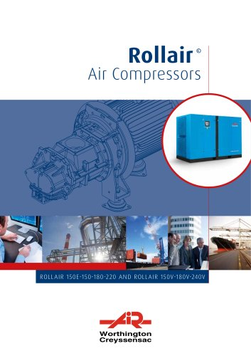 Rollair © Air Compressors ROLLAIR 150E-150-180-220 AND ROLLAIR 150V-180V-240V