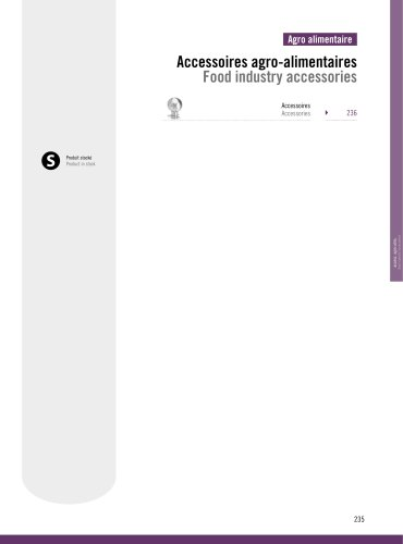 Food Industry : Accessories
