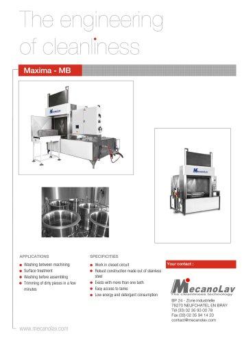 MAXIMA/MULTIBAINS Washing Machine