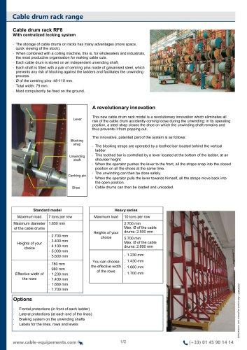 Cable drum rack range