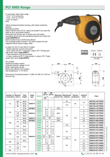 PLT 600S Range