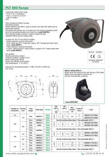PLT 800 Range