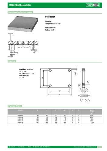 01060 Steel base plates