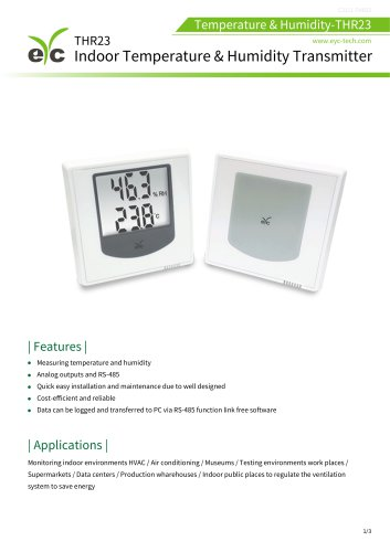 eYc THR23 Temperature & Humidity Transmitter for indoor