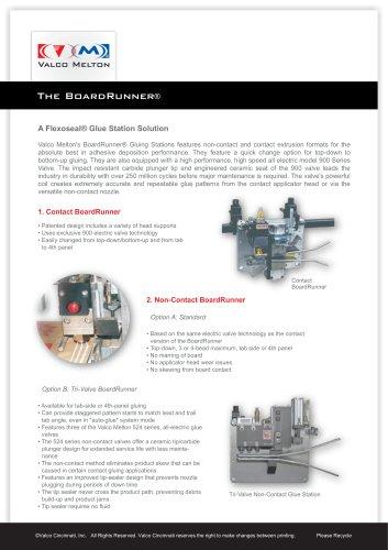 BoardRunner Tri-Valve Cold Glue Station