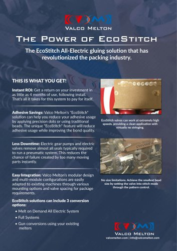The Power of EcoStitch, all-electric adhesive applicator