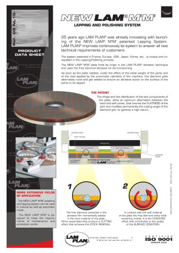NEW LAM M'M' PLATE lapping and polishing system