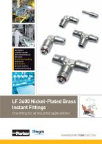 Parker Legris - LF 3600 Nickel-Plated Brass Instant Fittings One fitting for all industrial applications!