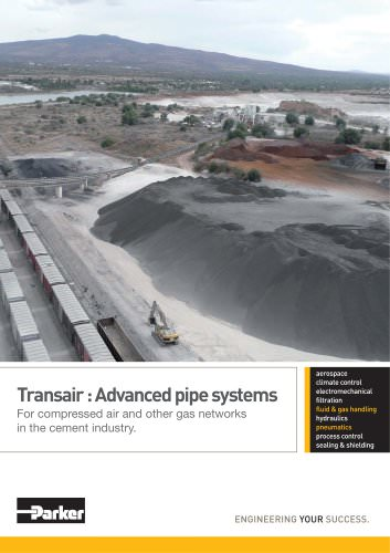 Parker Transair - Advanced pipe systems For compressed air and other gas networks in the cement industry