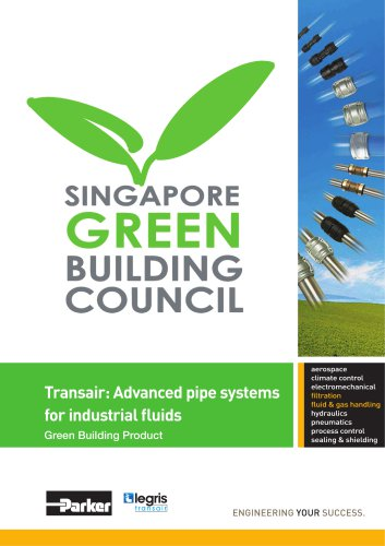 Parker Transair - Advanced pipe systems for industrial fluids Green Building Product