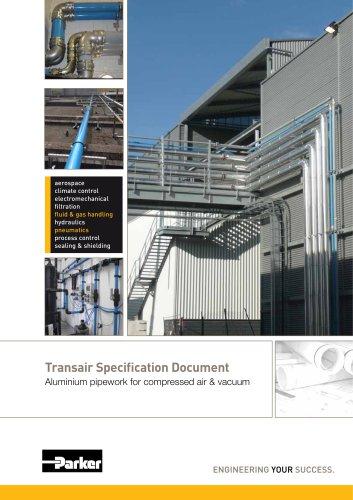 Parker Transair - Transair Specification Document Aluminium pipework for compressed air & vacuum