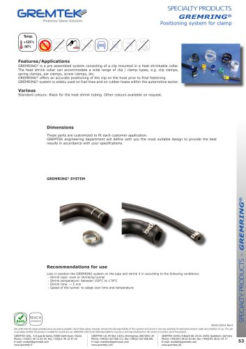 GREMRING® - SPECIALTY PRODUCTS