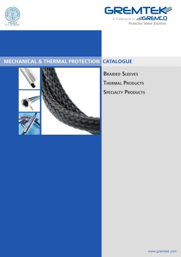 Mechanical & Thermal Protection Catalogue