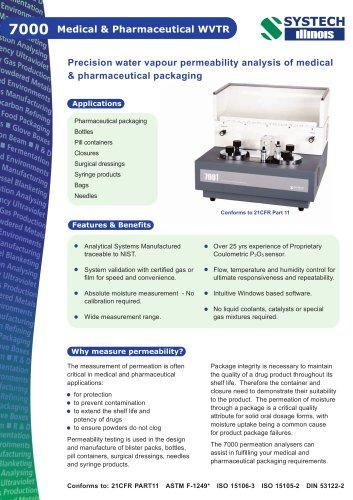 7000 WVTR Medical & Pharmaceutical