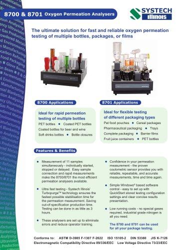 8700 & 8701 Oxygen Permeation Analyser
