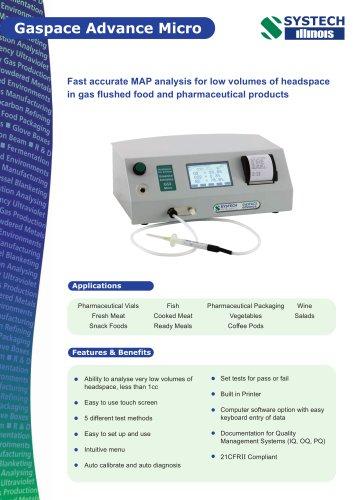 Gaspace Advance Micro Gas Analyser