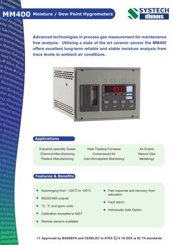 MM400 Moisture analyser
