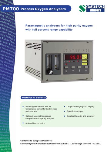 PM700 Paramagnetic oxygen analyser