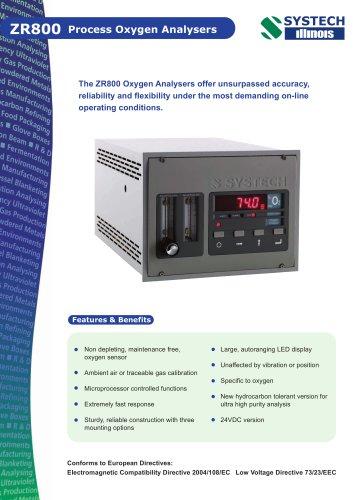 ZR800 Oxygen analyser