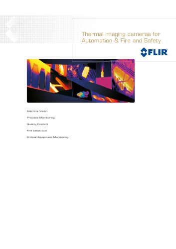 Thermal imaging cameras for automation / process control