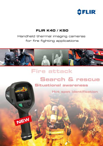 Thermal imaging cameras for firefighting support