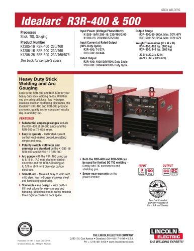 Idealarc® R3R-400 & 500