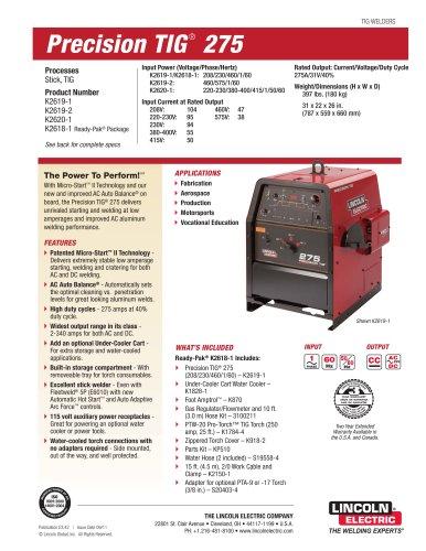 Precision TIG ® 275