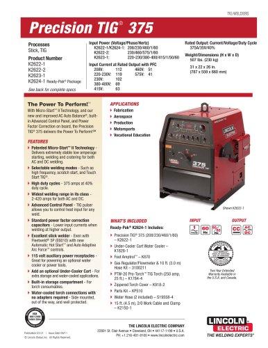 Precision TIG ® 375