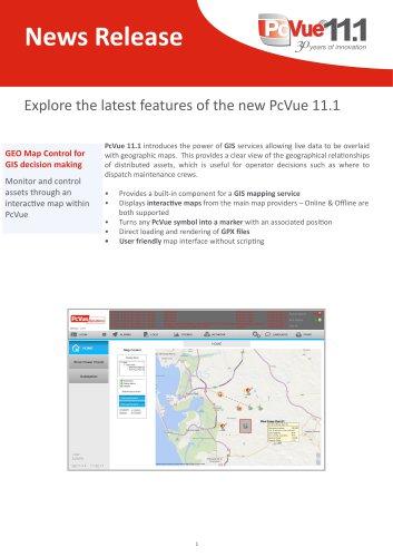 PcVue 11.1 - News Release