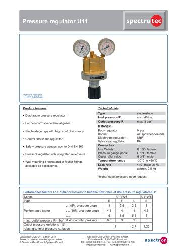 Pressure regulator U11