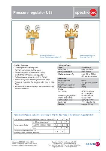 Pressure regulator U23