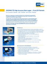 DATAPAQ TP3 High Accuracy Data Logger – 10 and 20 Channels for Furnace Tracker ® , Kiln Tracker ® and Oven Tracker ®