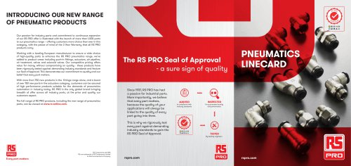RS PRO Pneumatic Linecard