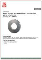 RS Pro Stainless Steel Plain Washer - 1