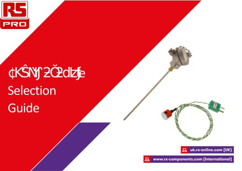 RS PRO Thermocouple Selection Guide