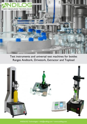 Bottle Testers - Range Anditork Drivetork Topload and Extractor EN